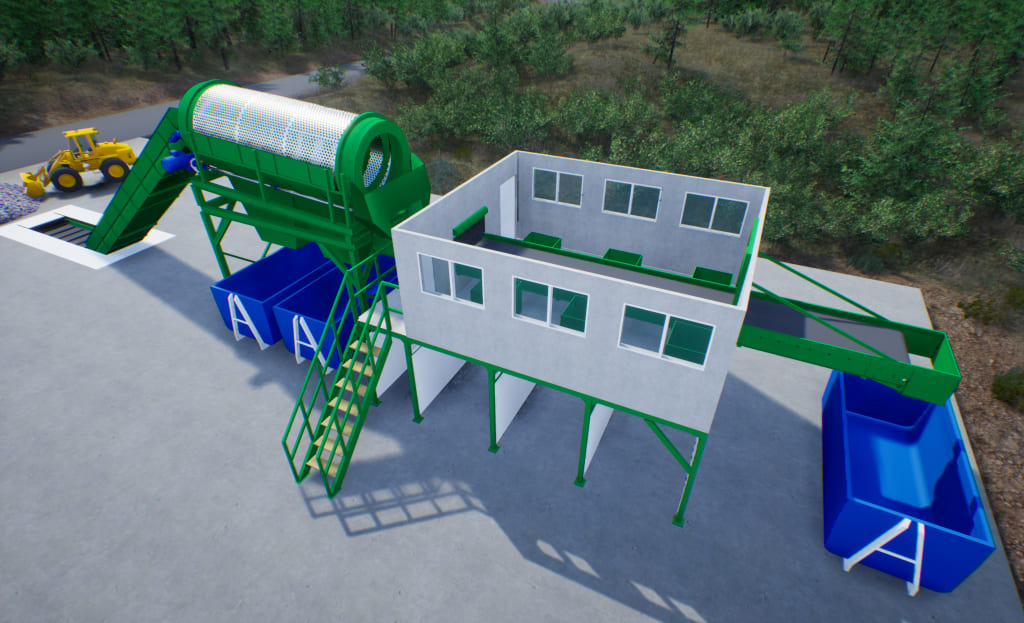Technological line for MSW and MW recycling productivity 30,000 tons / year