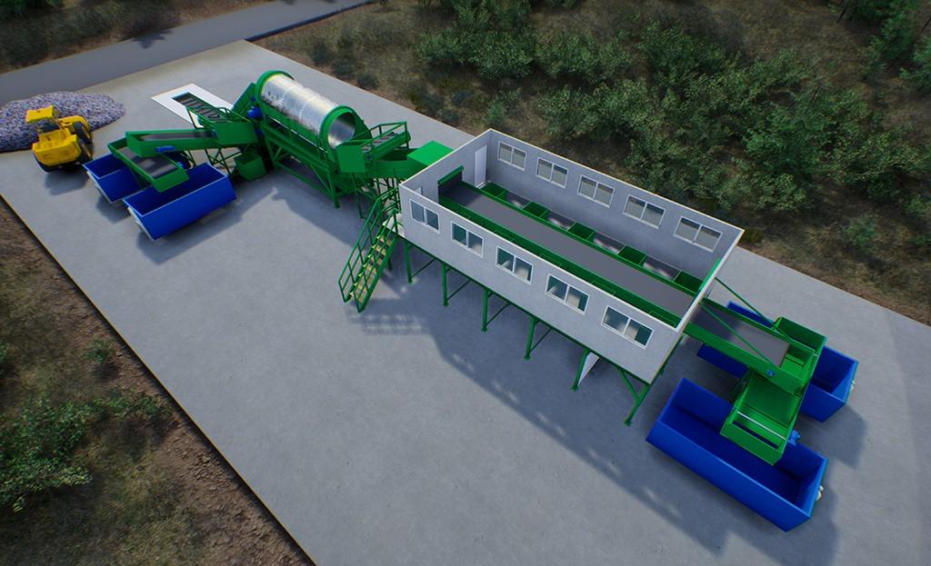 Оборудование технологической линии по переработке ТКО и ПО производительность 30000 тонн / в год  повышенный эффект